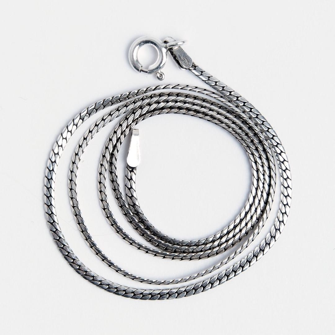 Lanțișor la baza gâtului, 42 cm, argint, Thailanda