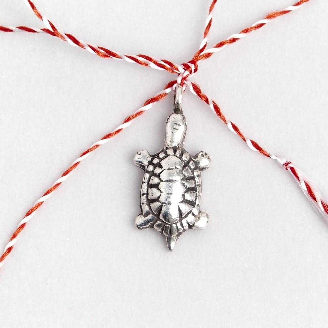 Mărțișor broască țestoasă din argint
