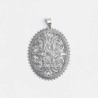 Medalion filigran Sirsa, argint, India