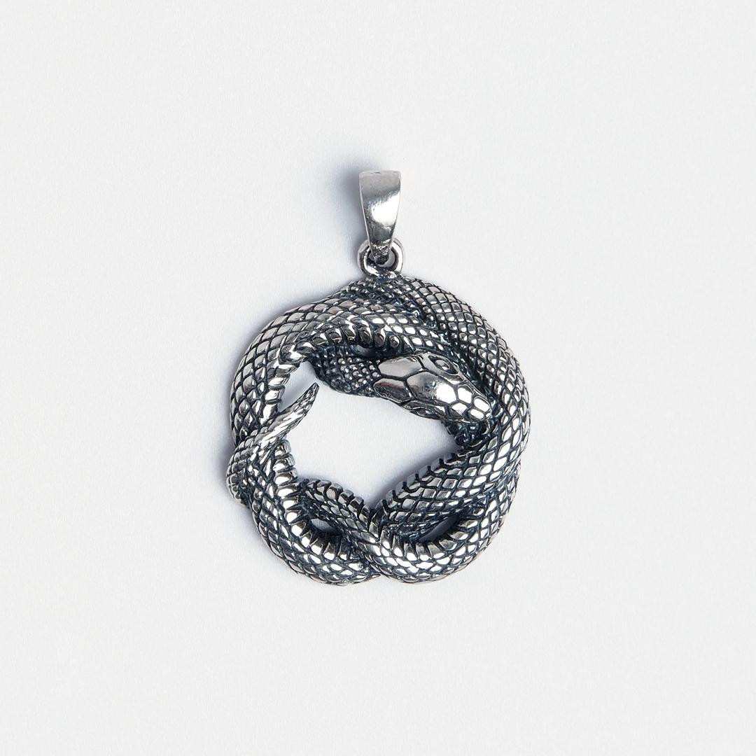 Pandantiv din argint șarpe Ananta, India