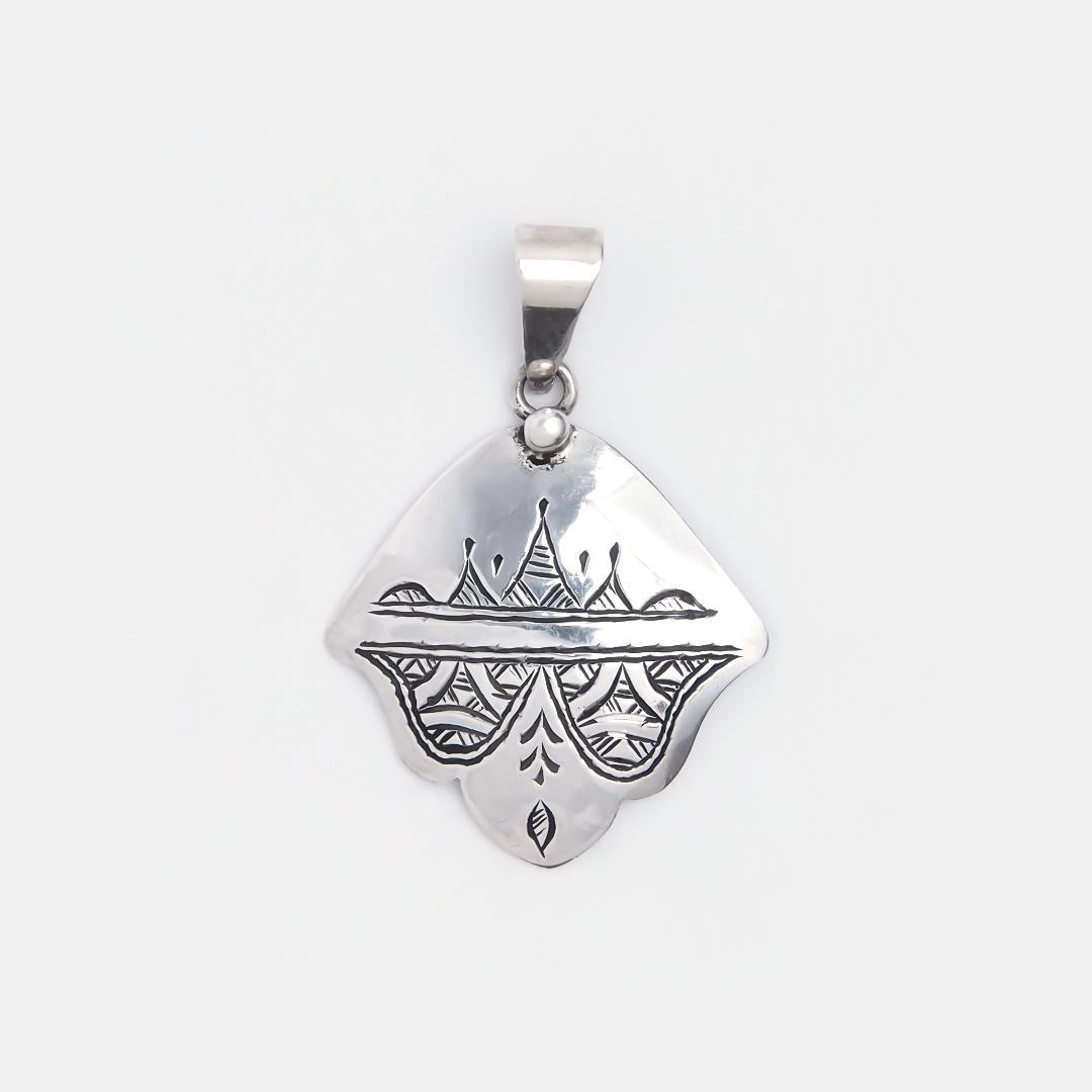 Amuletă hamsa din argint Dirkou, Niger