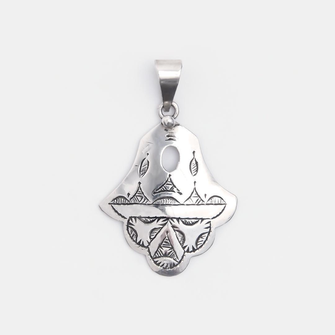 Amuletă hamsa din argint Kamango, Niger