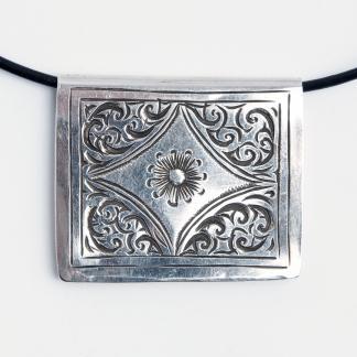 Pandantiv amuletă Kitab, cutiuță argint, Maroc