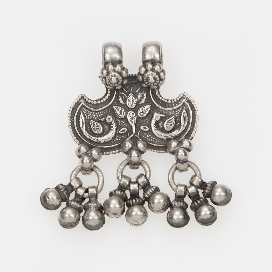 Pandantiv amuletă shernakh jantr, argint, India