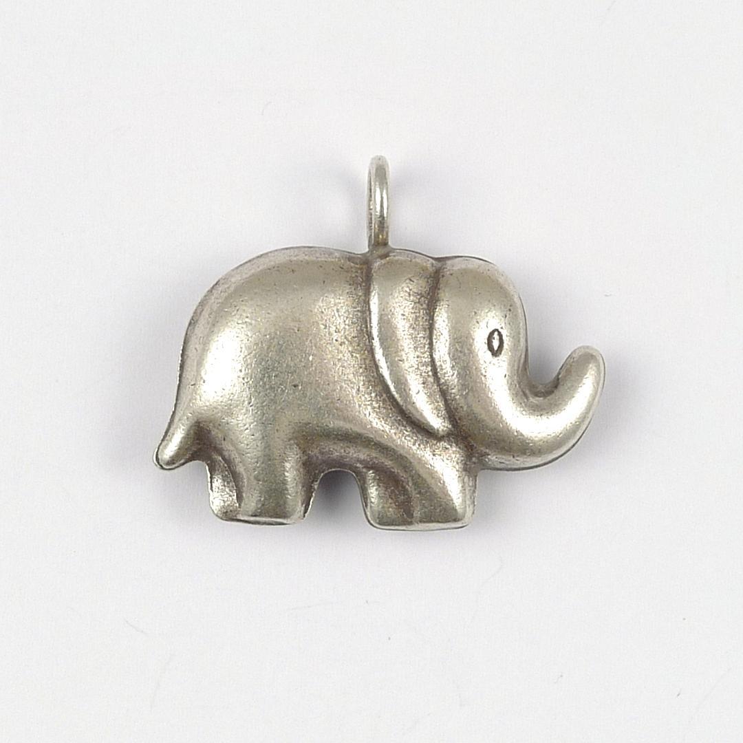 Pandantiv argint, elefant două fețe, Thailanda