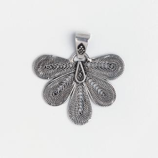 Pandantiv de argint filigran Khali, India