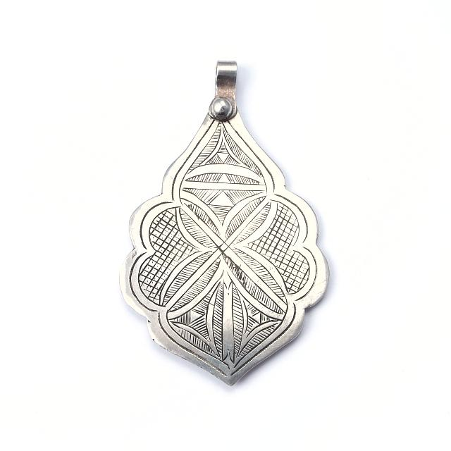 Pandantiv argint, hamsa stilizată, Sahara