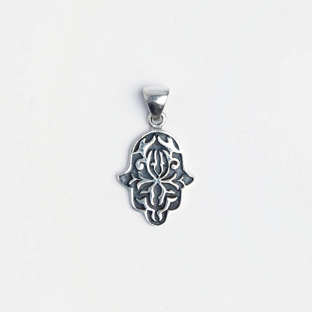 Amuletă hamsa argint Sufi, Maroc