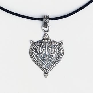 Pandantiv argint patinat Devi, India