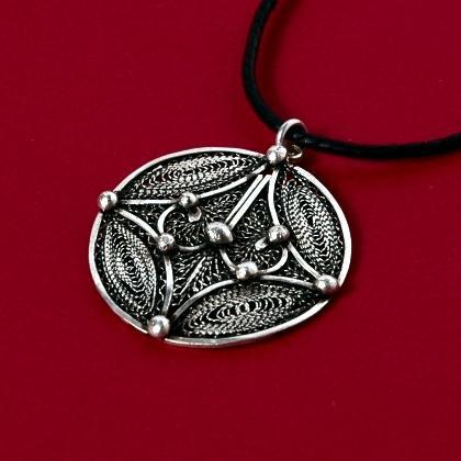 Pandantiv berber rotund, argint filigranat