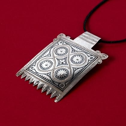 Pandantiv berber argint și niel, sec. XX