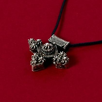 Pandantiv berber boghdadiya mic, argint și filigran