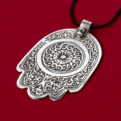 Pandantiv berber hamsa argint