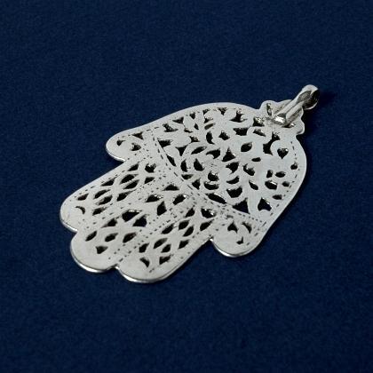 Pandantiv berber hamsa argint, sec. XX