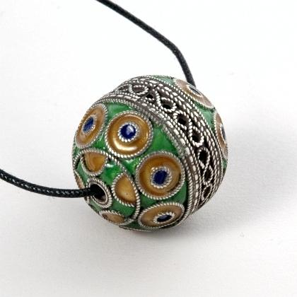 Pandantiv berber taguemmout argint și email