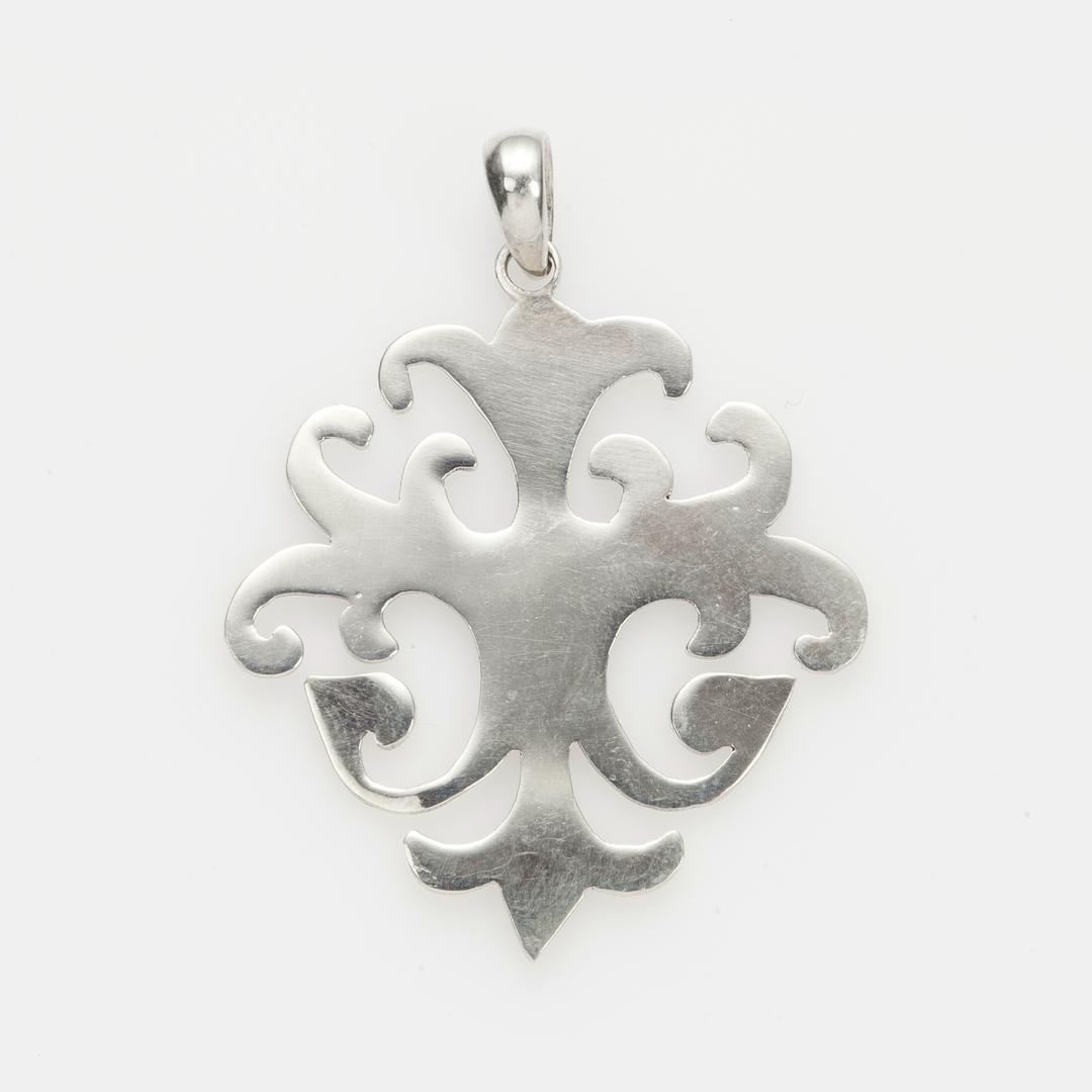 Pandantiv celtic floare, argint