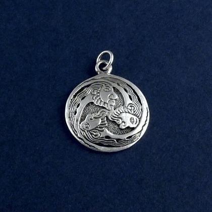 Pandantiv celtic triskelion, argint