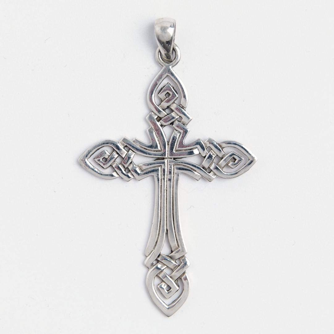 Pandantiv cruce celtică, argint