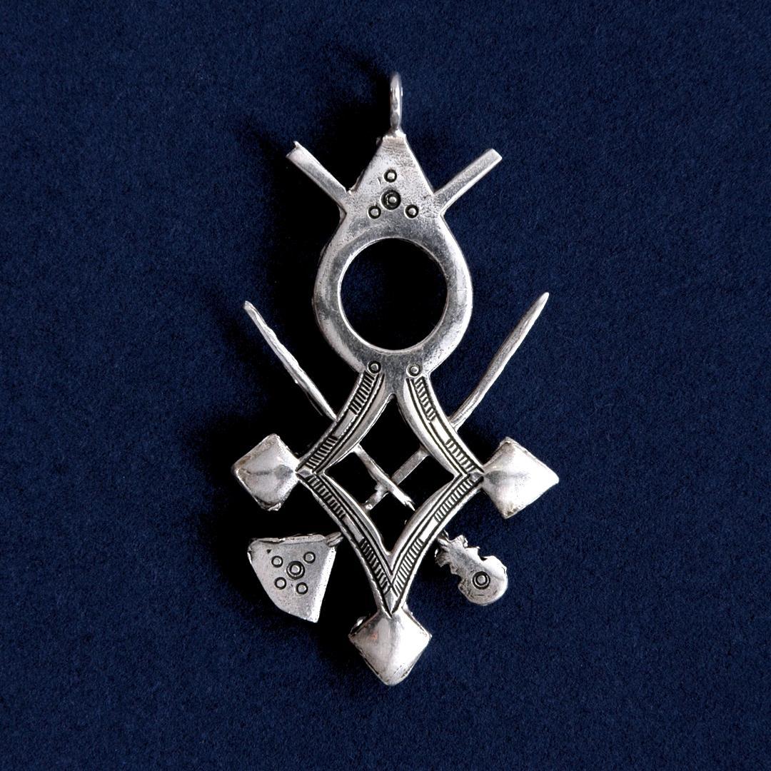 Pandantiv cruce tuaregă Aïr, argint