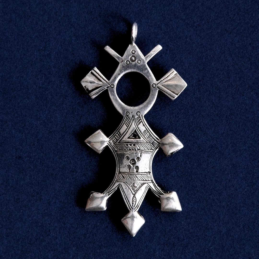 Pandantiv cruce tuaregă Bilma, argint