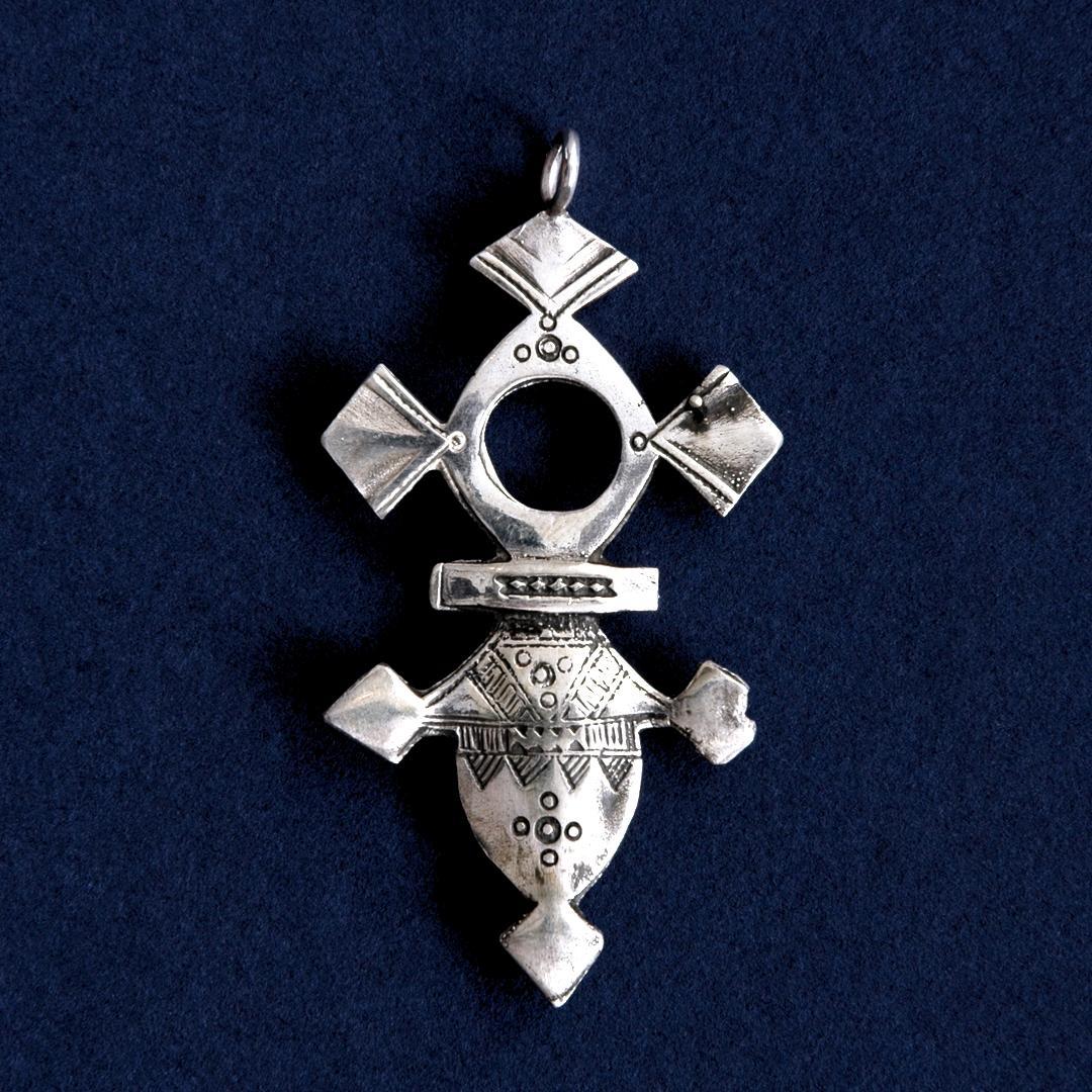 Pandantiv cruce tuaregă Ifrouane, argint