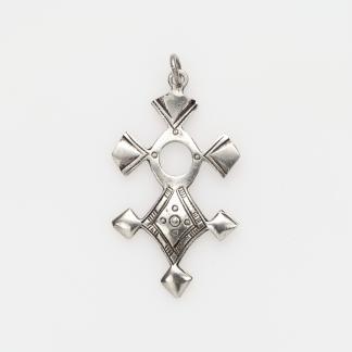 Pandantiv cruce tuaregă In-Abagret mică, argint