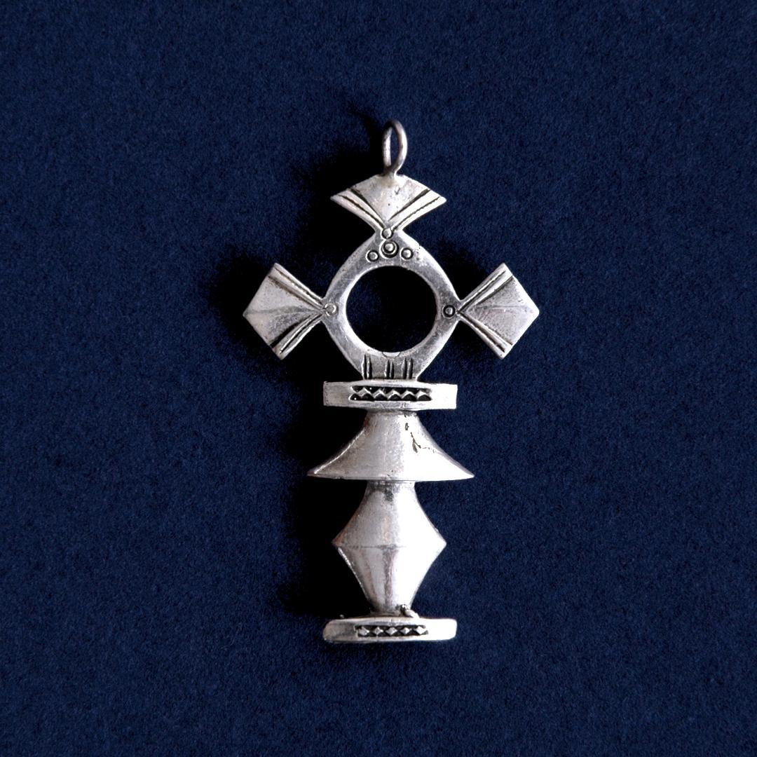 Pandantiv cruce tuaregă Tahmert, argint