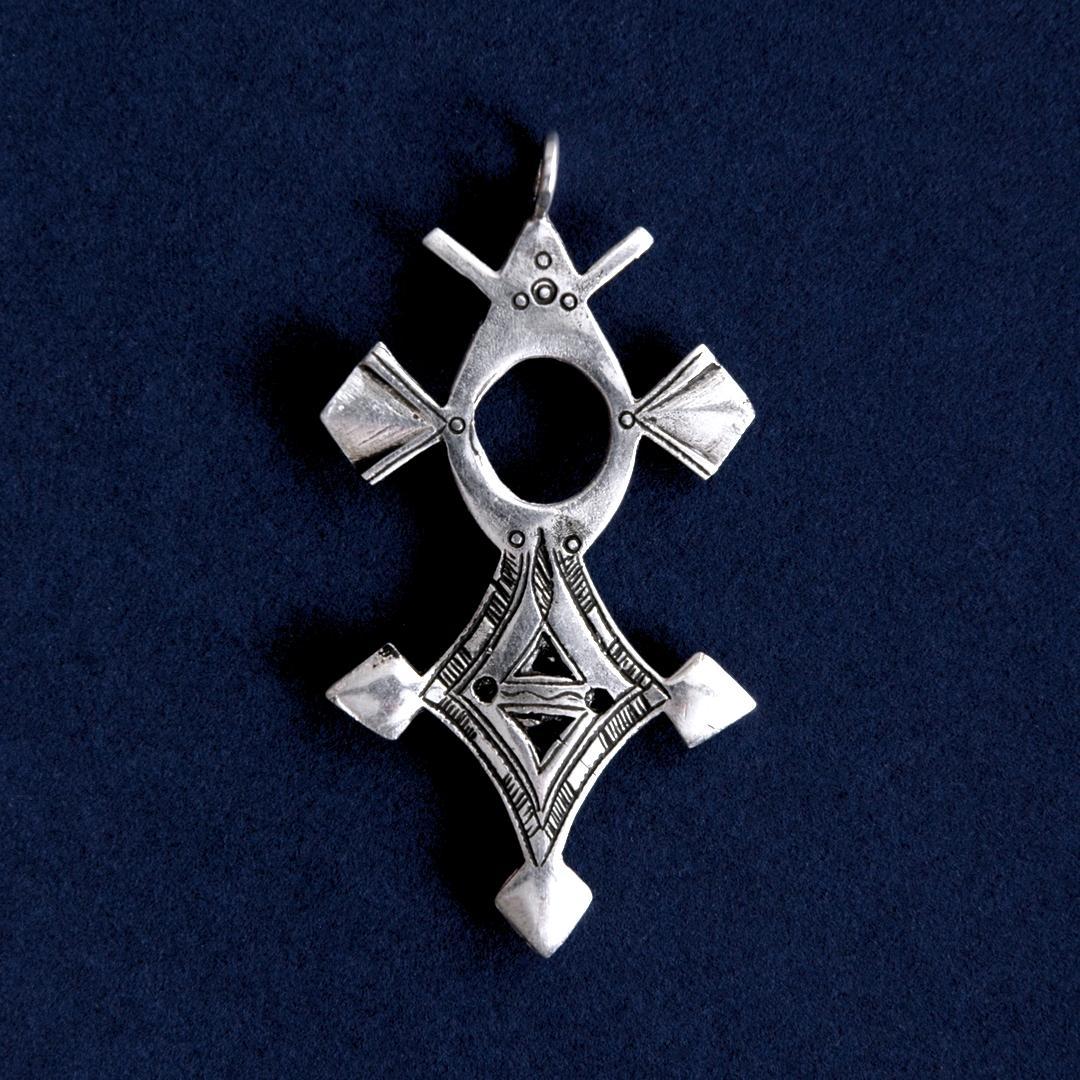 Pandantiv cruce tuaregă Tahoua, argint