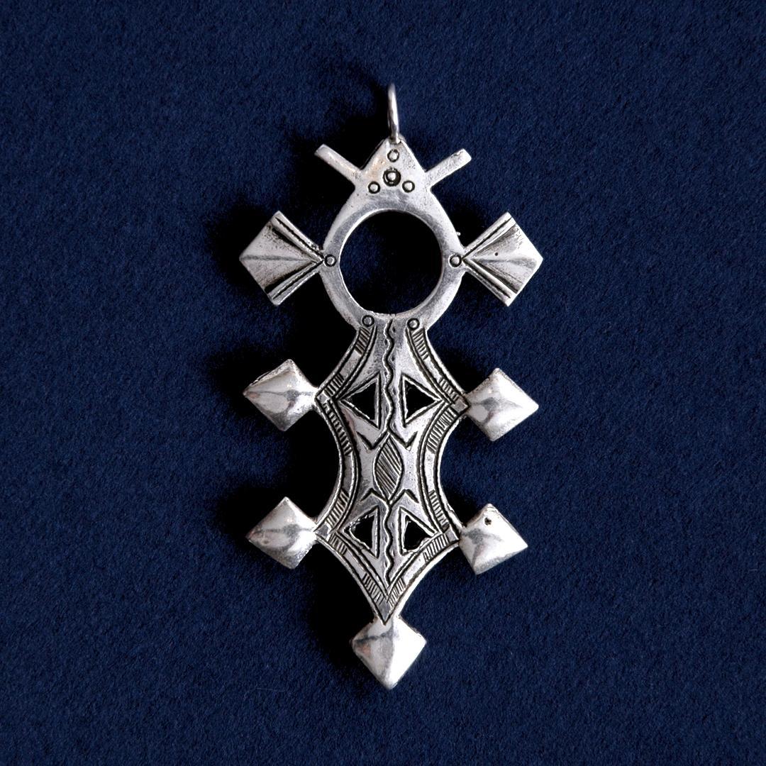 Pandantiv cruce tuaregă Tillya, argint