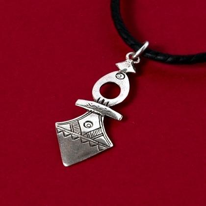 Pandantiv cruce tuaregă Timia mică, argint