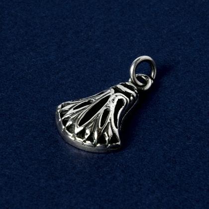 Pandantiv egiptean lotus perforat mic, argint