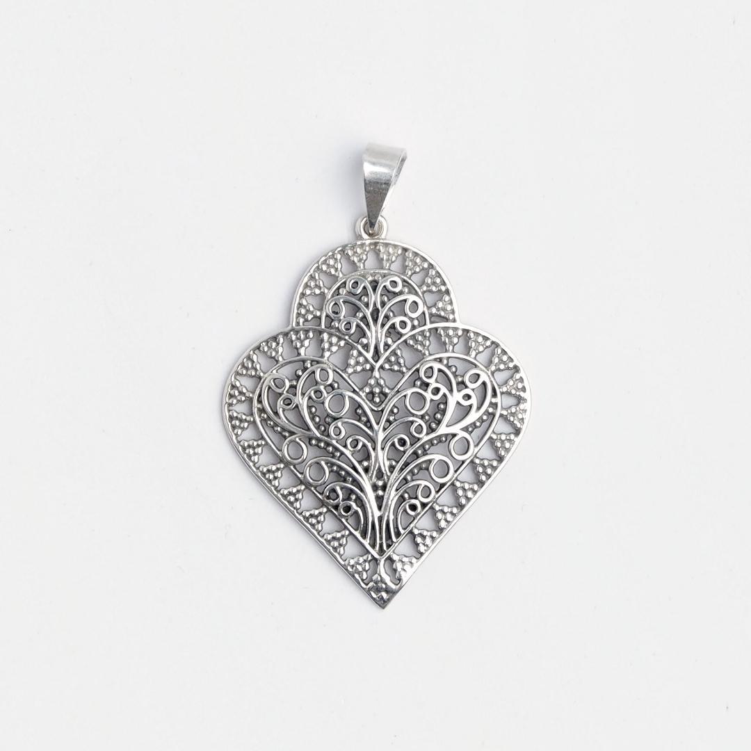 Pandantiv filigran Suryapet, argint, India