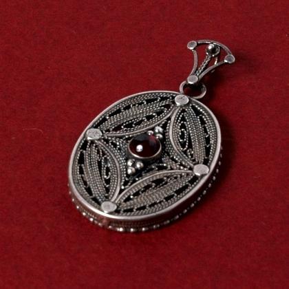 Pandantiv indian argint filigranat