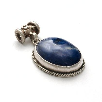 Pandantiv indian Kashmir, argint și lapis lazuli
