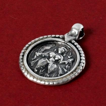 Pandantiv indian mandala argint, sec. XX