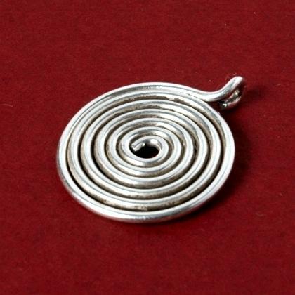 Pandantiv indian spirală argint