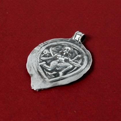Pandantiv indian yoni argint, sec. XX