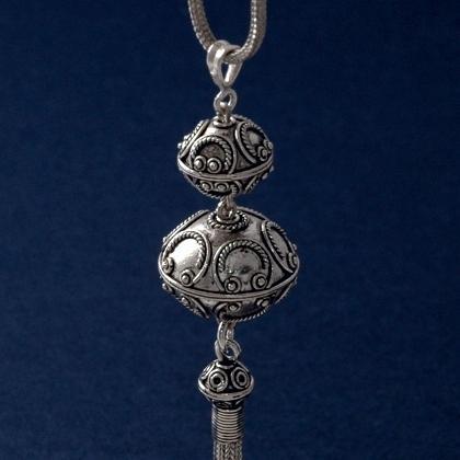 Pandantiv indonezian Seminyak, argint