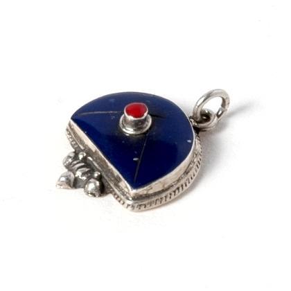 Pandantiv nepalez argint și lapis lazuli