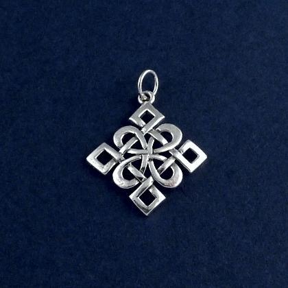 Pandantiv nod celtic Dara, argint