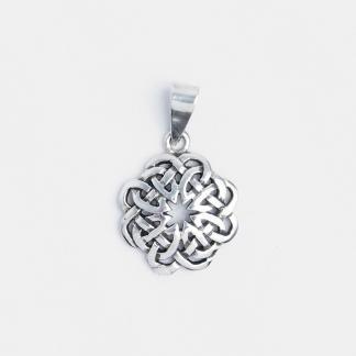 Pandantiv nod celtic floricică, argint
