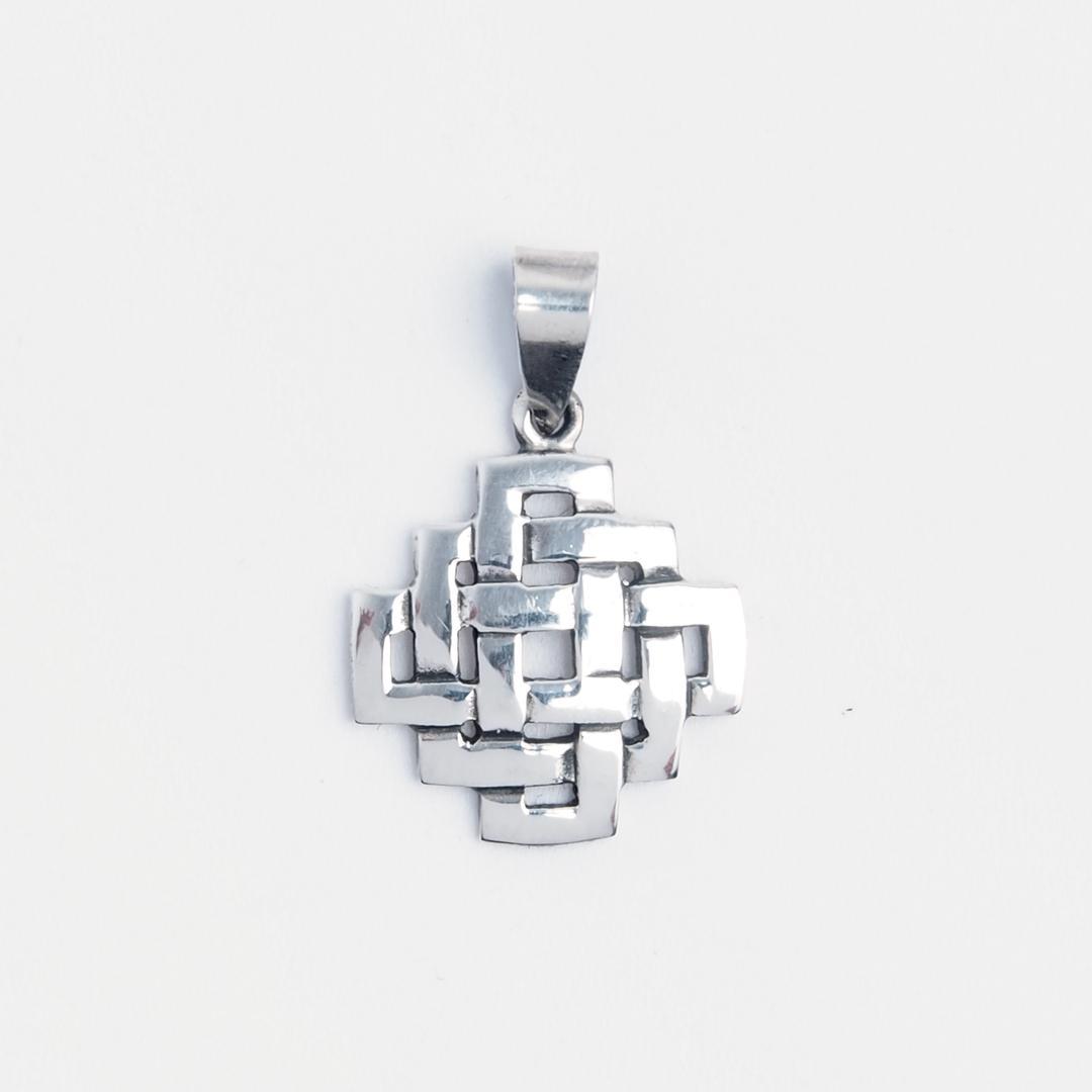 Pandantiv nod celtic pătrat, argint