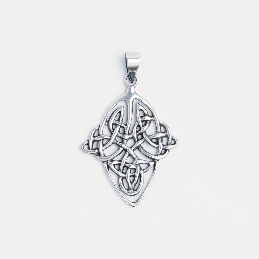 Pandantiv nod celtic romboid, argint