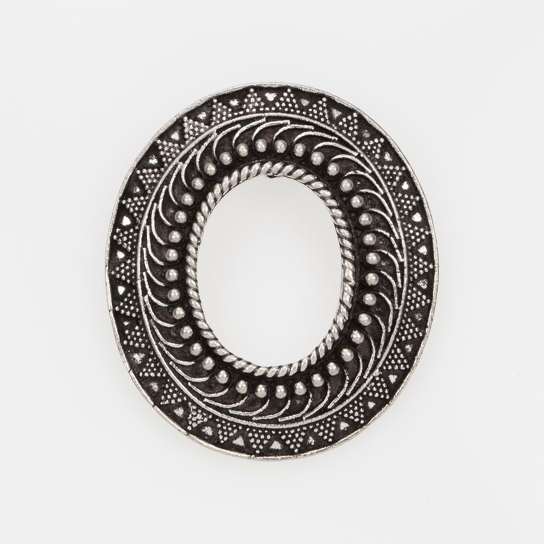 "Pandantiv oval, litera ""O"", argint, India"