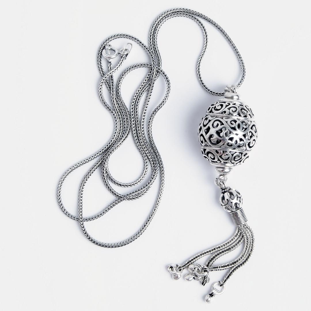 Pandantiv Pura cu lanț lung, argint, Indonezia