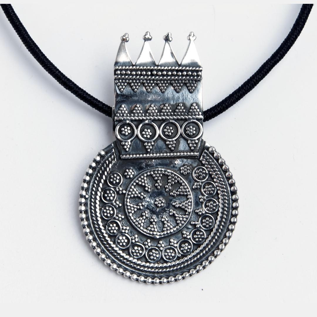 Pandantiv Raja, argint, India