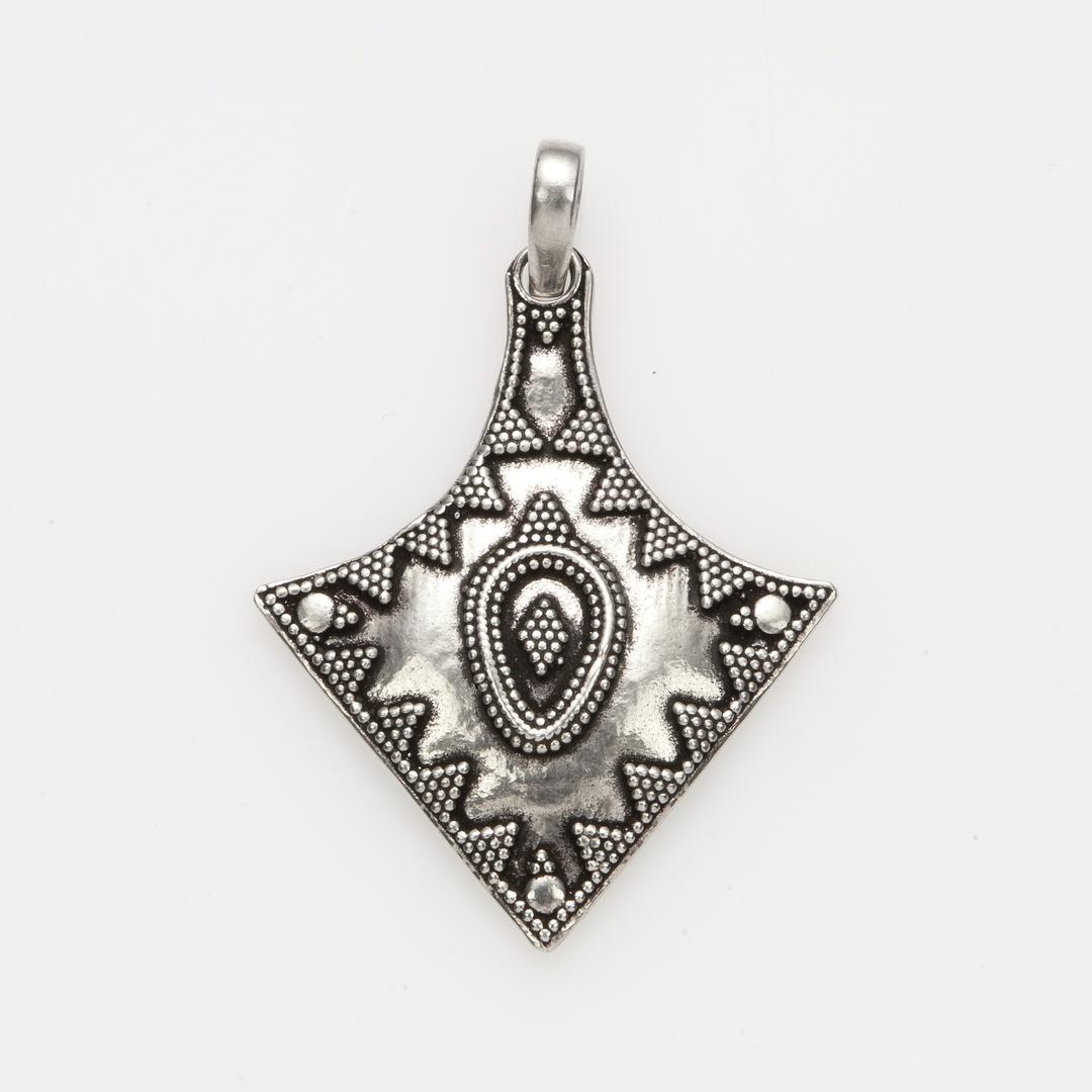 Pandantiv romb, granulație, argint, India