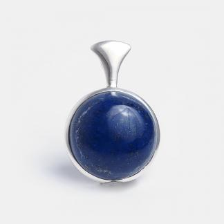 Pandantiv rotund argint și lapis lazuli Ishani, India