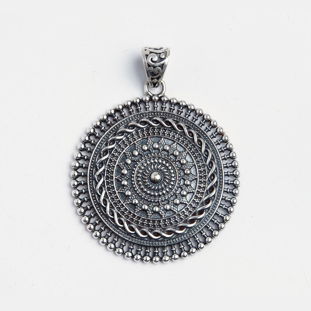 Pandantiv rotund Bengal, argint, India