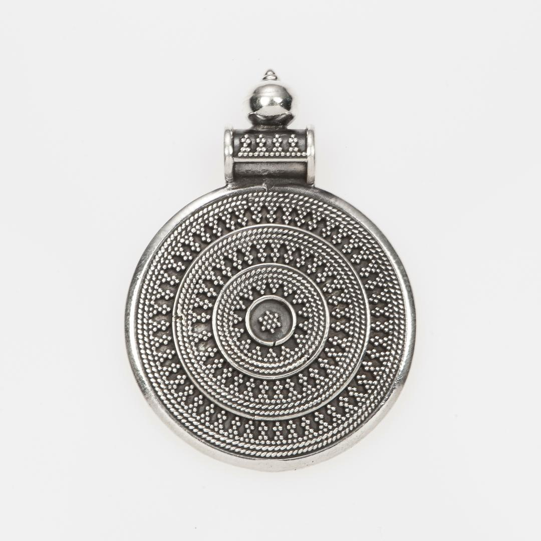 Pandantiv rotund, cer înstelat, mare, argint, India